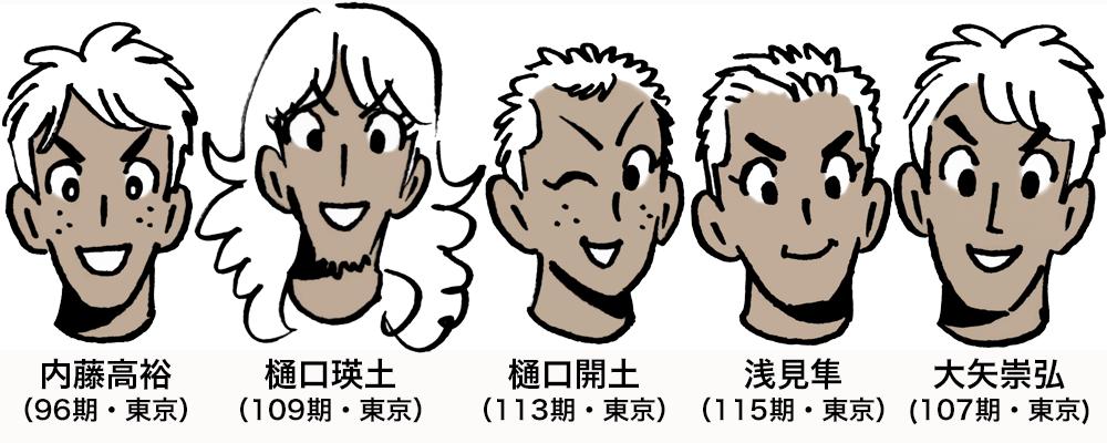 5人組イラスト